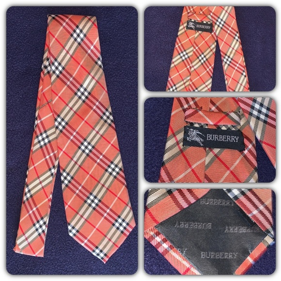 Burberry Other - BURBERRY Nova Check in Orange Beige Classic Tie